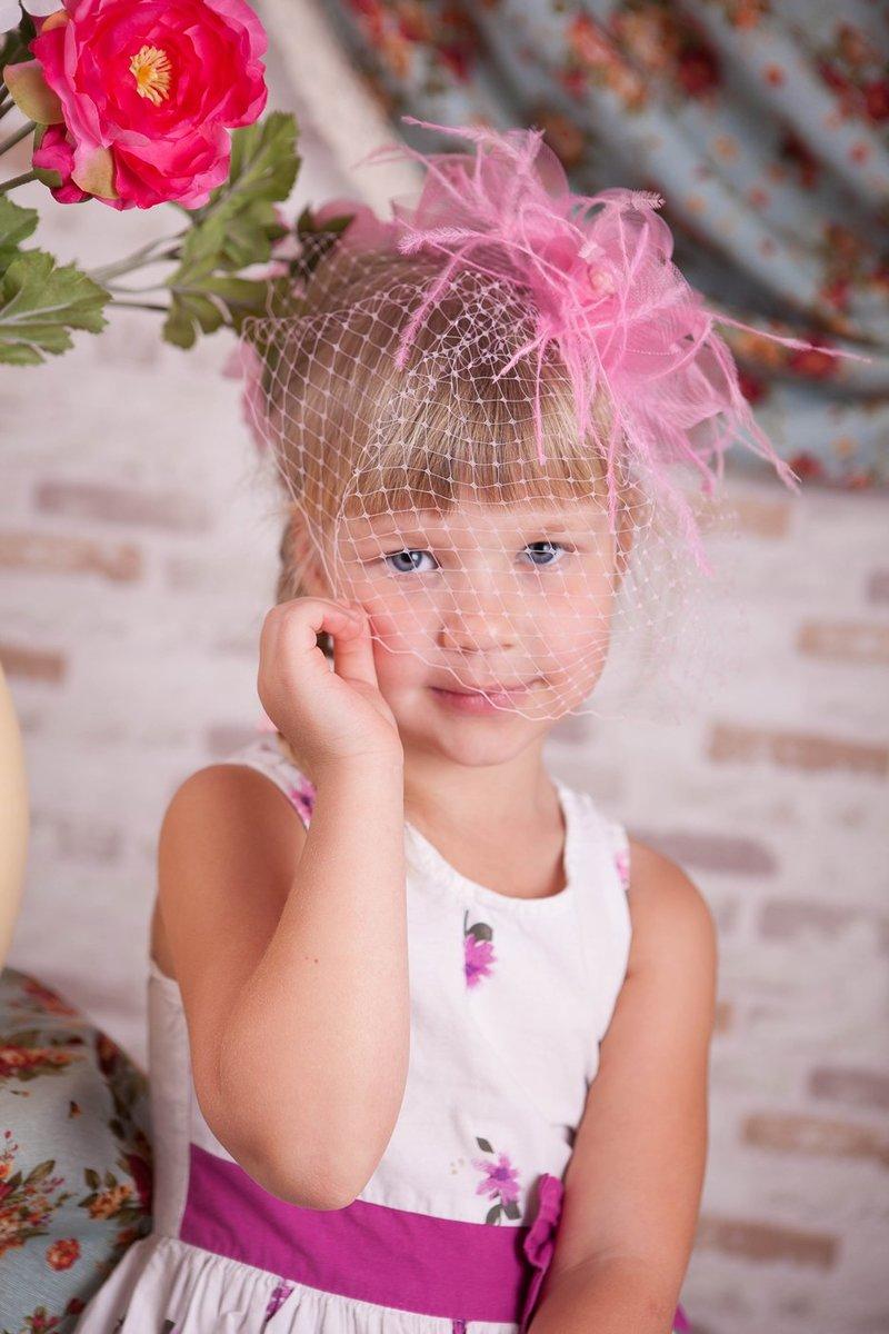 Шляпки с вуалью для девочки 84
