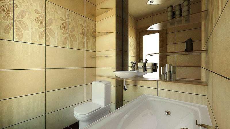 дизайн маленькой ванной комнаты совмещенной с туалетом вариант