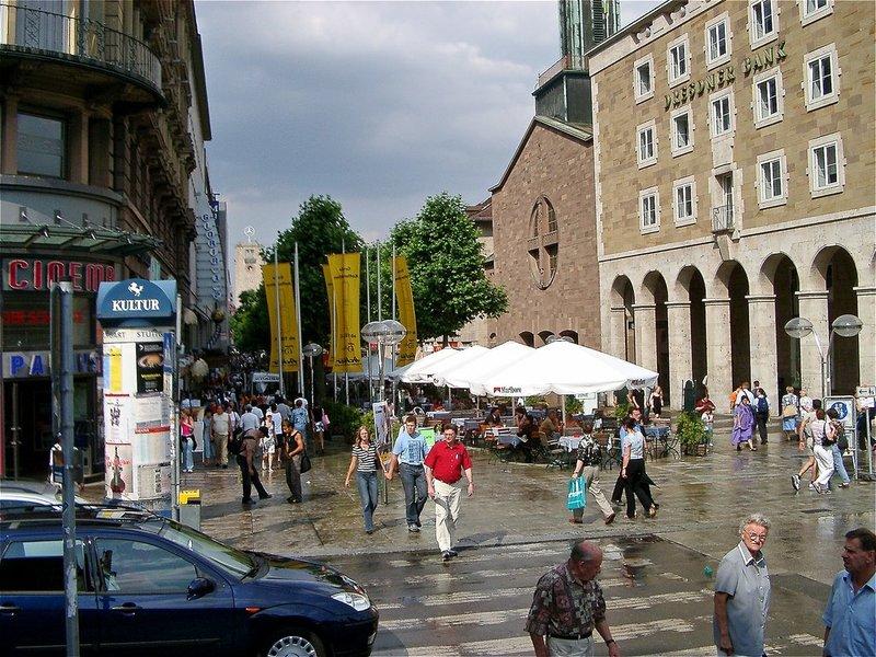 город Штутгарт после дождя