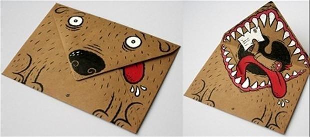 Креативные открытки конверты, надписью люблю