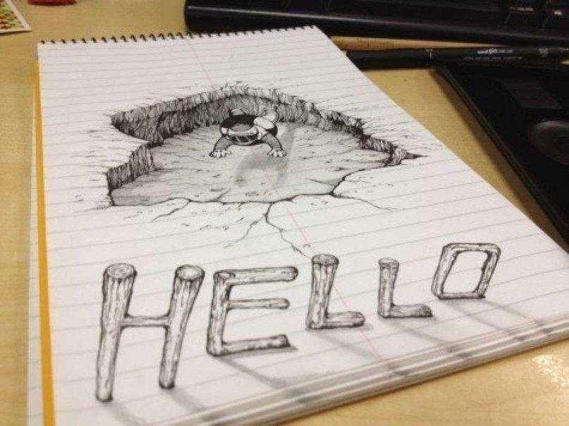 Картинки для срисовки тридэ ручкой