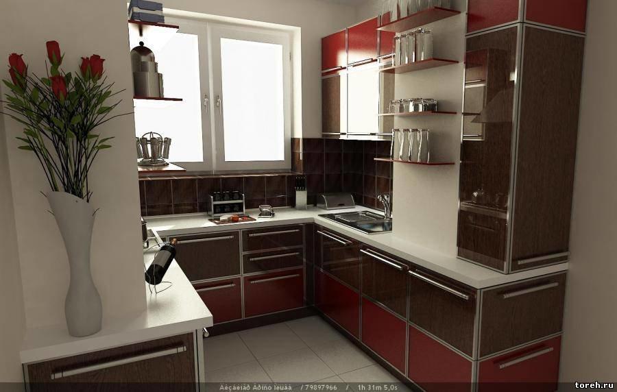 """Маленькая кухня, объединенная с балконом."""" - карточка пользо."""