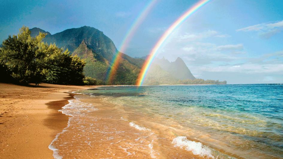 обои море радуга сам