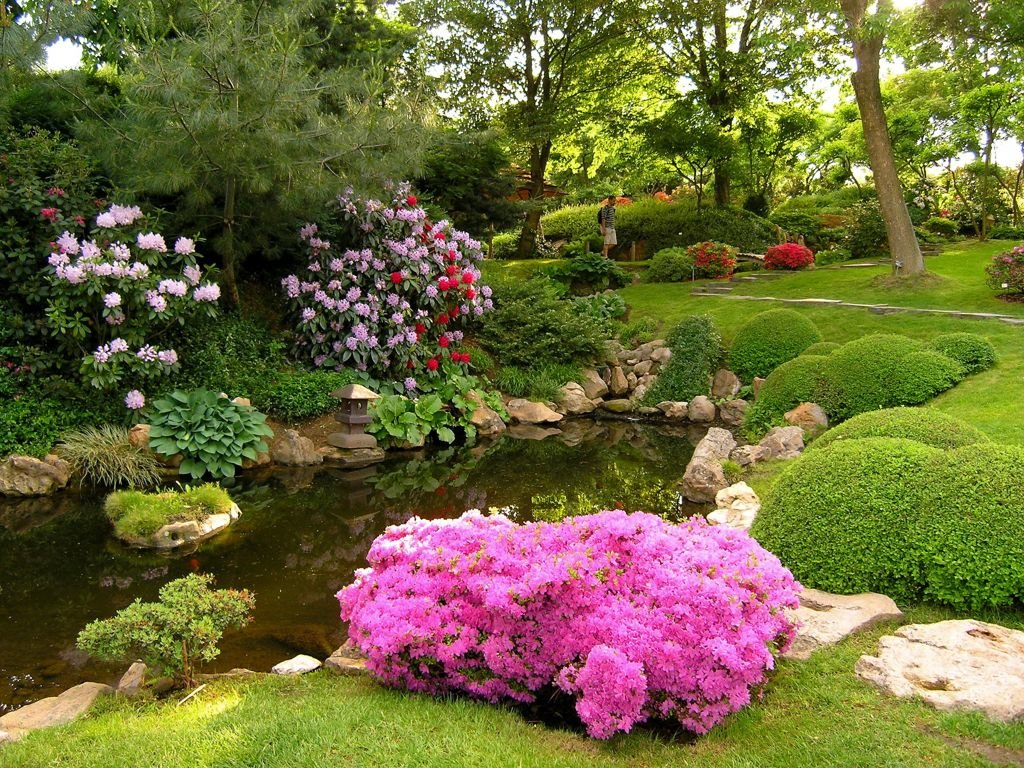 красивый сад с цветами фото ещё раз подтверждает