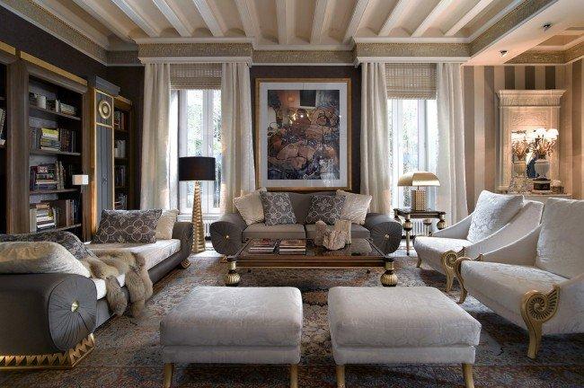 Интерьеры в неоклассике: 80 фото элегантных решений для дома Такой интерьер подчеркнет солидность и статусность хозяина дома