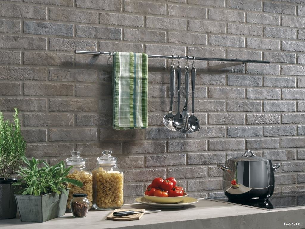 стеновые панели для кухни под кирпич