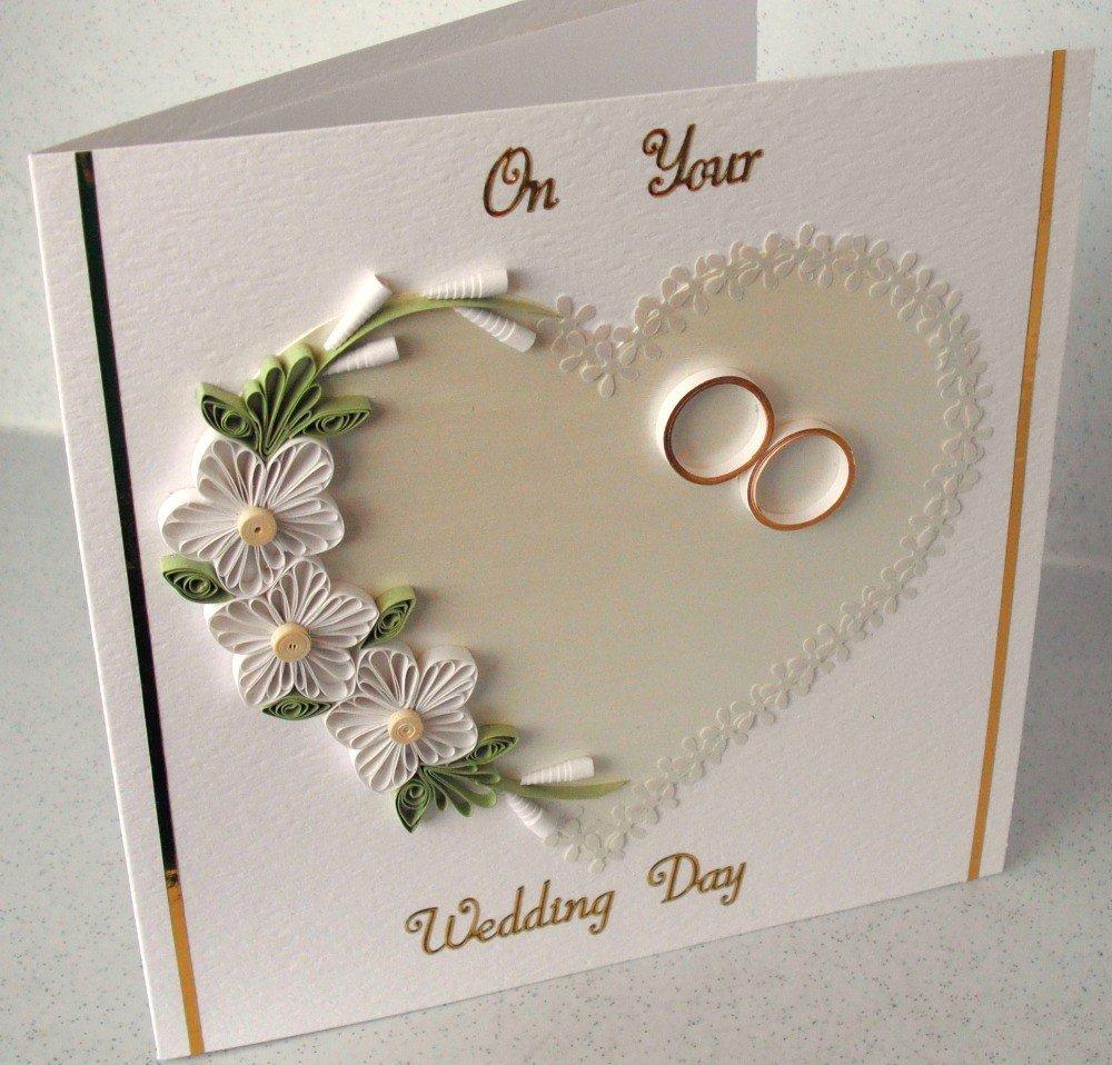 Открытка с квиллингом на свадьбу своими руками, новым