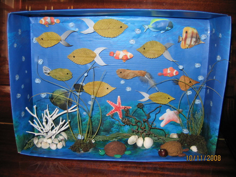 Поделка Аквариум с рыбками своими руками. Мастер-класс с 99