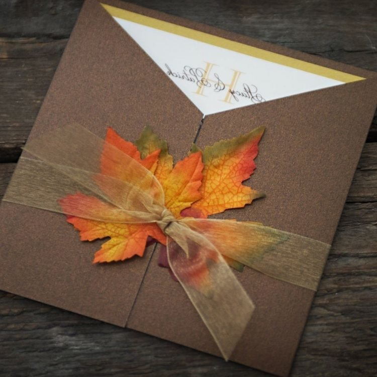 Осенний лист открытка своими руками