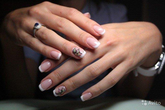 классика ногти фото