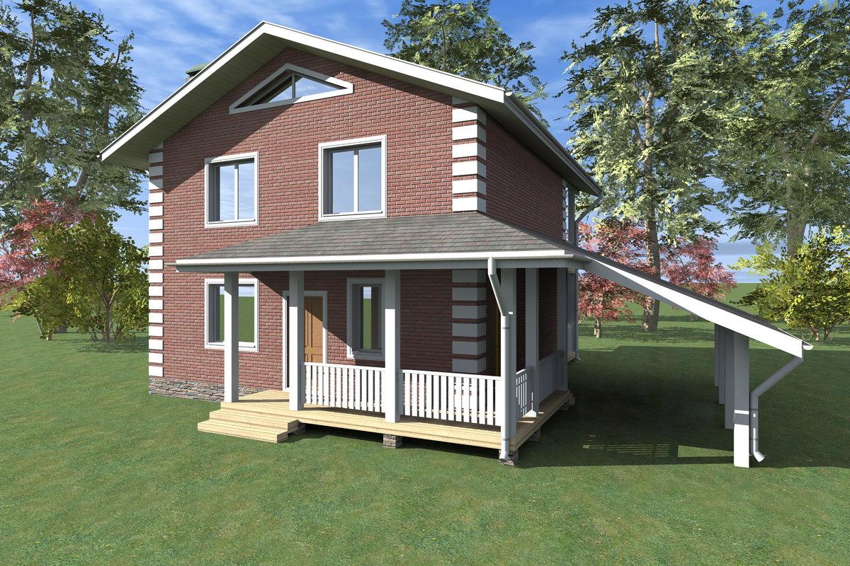 Двухэтажный жилой дом 100м2 - евростройстиль с. проект, цена.