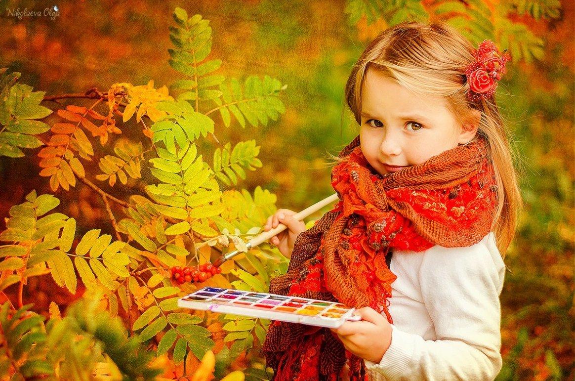 Картинки дети и осень золотая