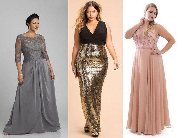 cf1cc23d6f273d1 Фото нарядных моделей и актуальных Самые красивые и модные платья 2018 года  для полных женщин. Фото нарядных моделей и актуальных