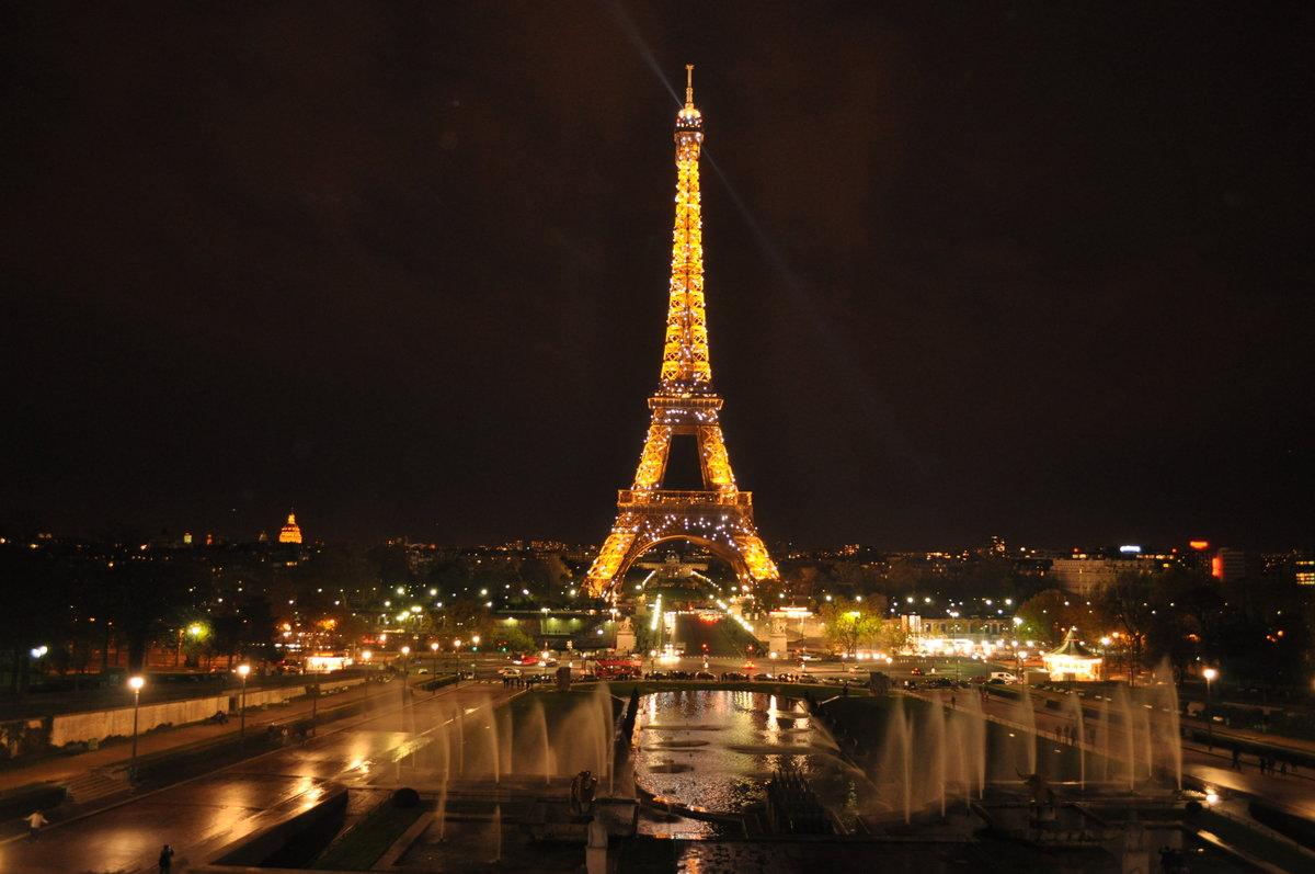 картинки парижа ночью цветочный столб