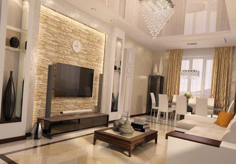 интерьер современной гостиной в арабском стиле