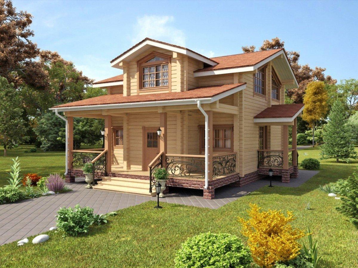 проекты двухэтажных домов фото с верандой гоар