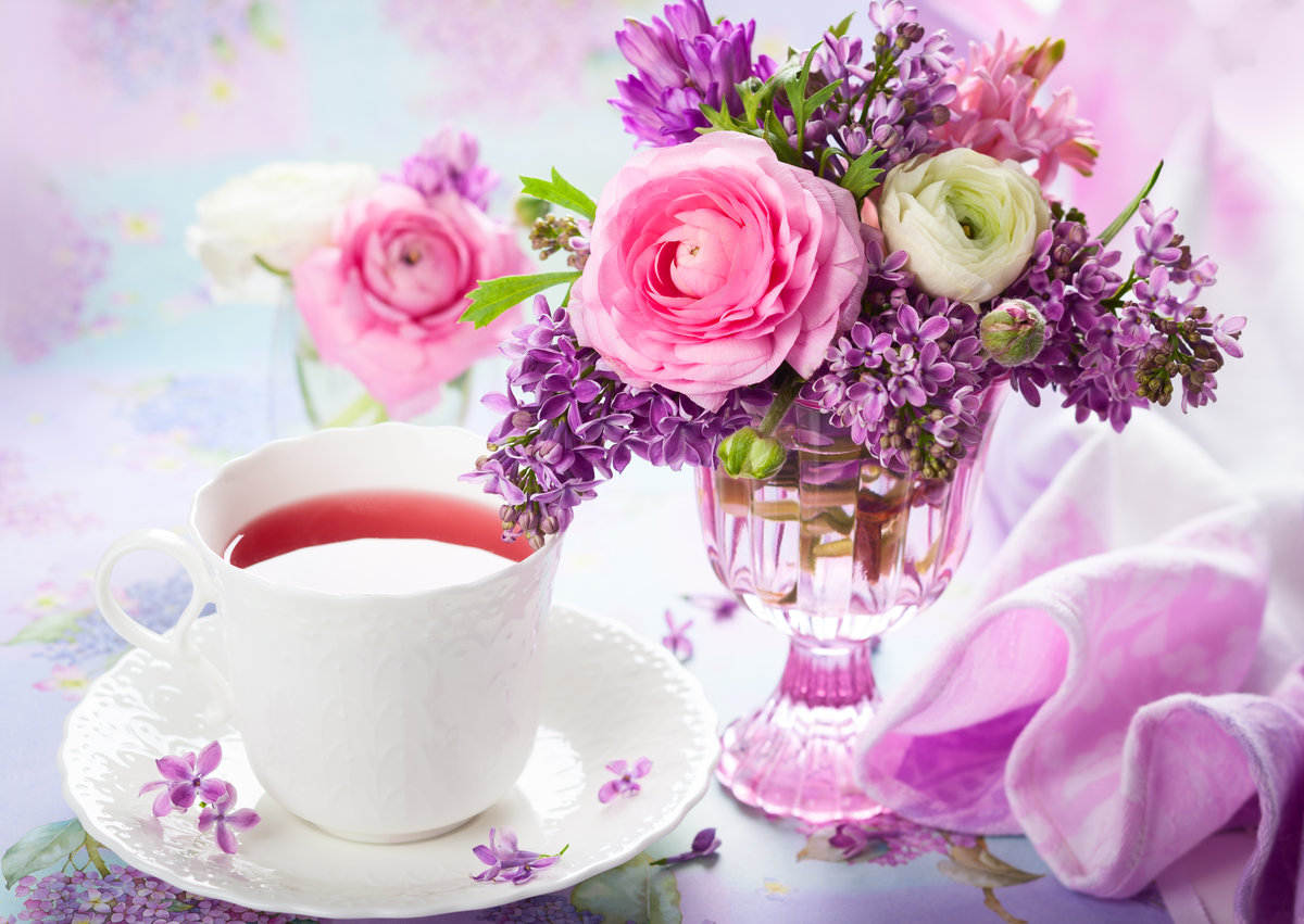 Для мужчин, красивые открытки с кофе и цветы