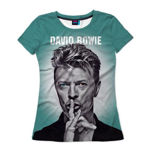 Женская футболка 3D Боуи