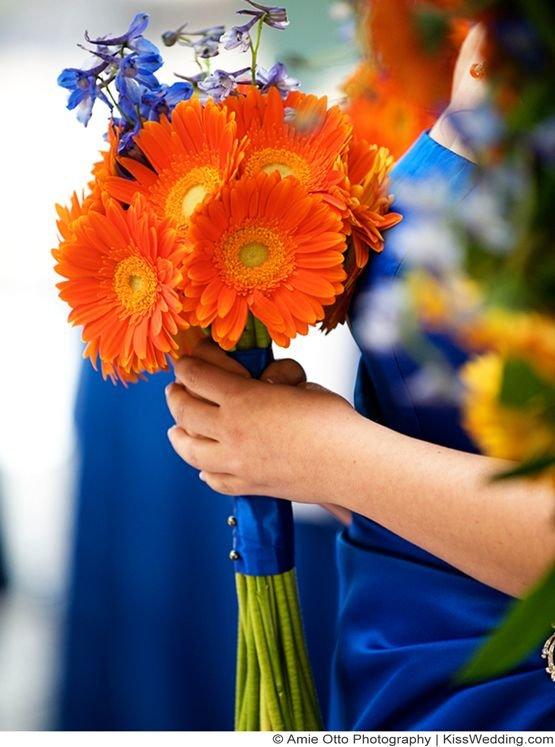 Букет из больших оранжевых ромашек фото, доставка цветов йошкар