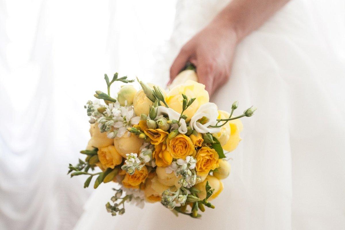 Желтые свадебные букеты, цветов интернет магазин