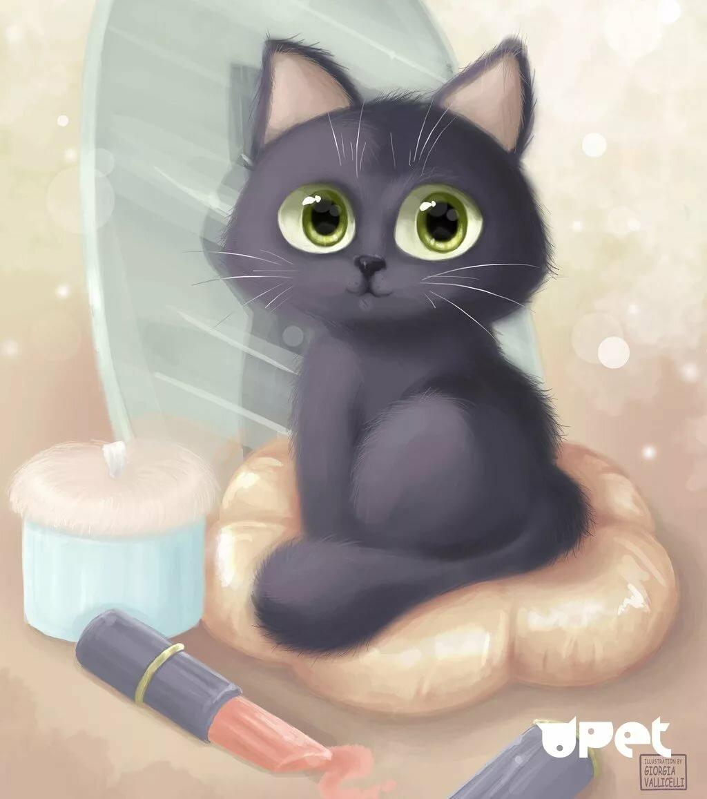 картинки с котами и кошками мультяшными близки