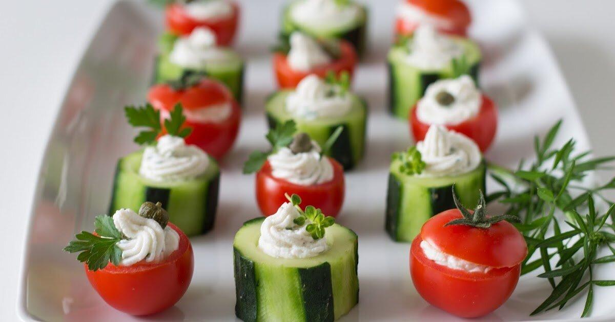 праздничные закуски из овощей с фото каждую затею
