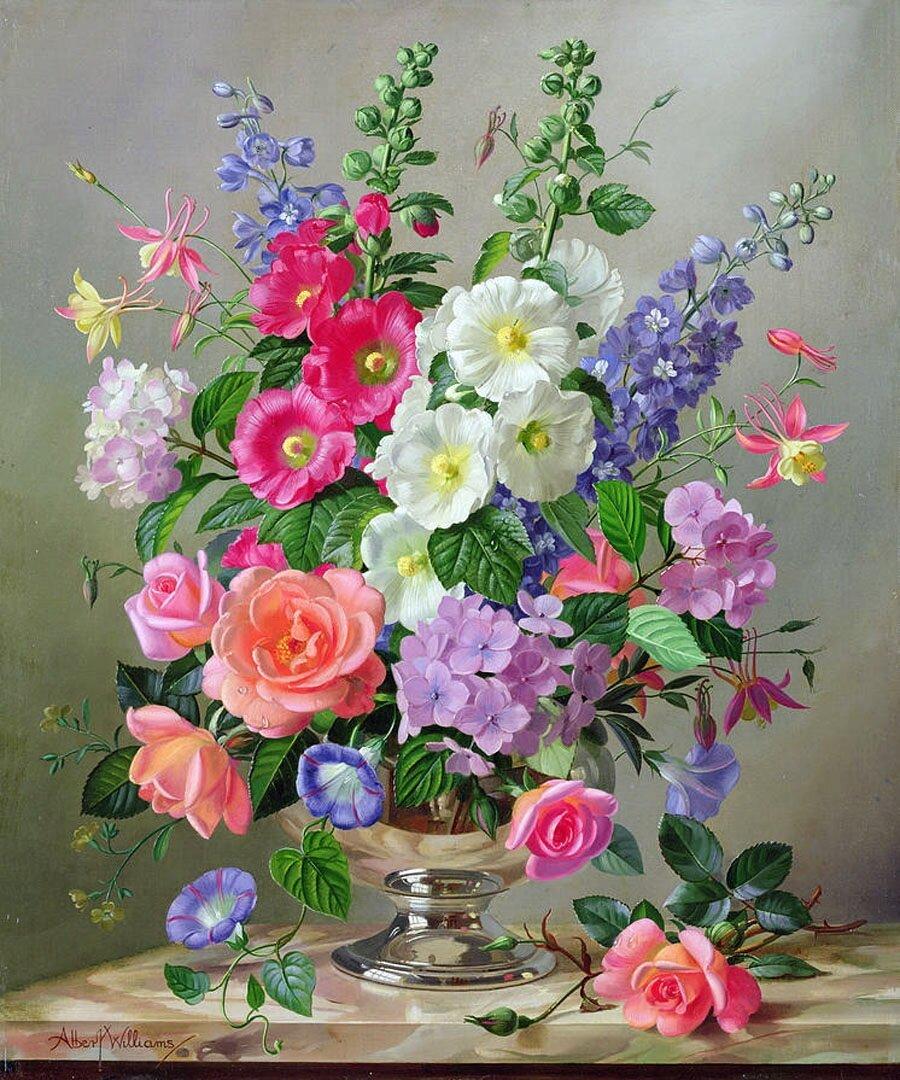 Открытки анимации, открытка с вазой и цветами