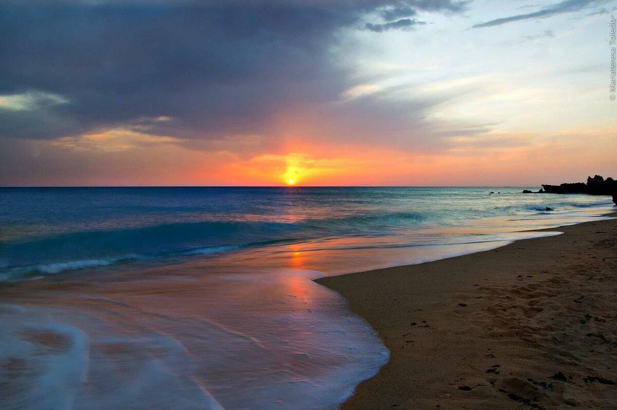 Открытка рассвет у моря