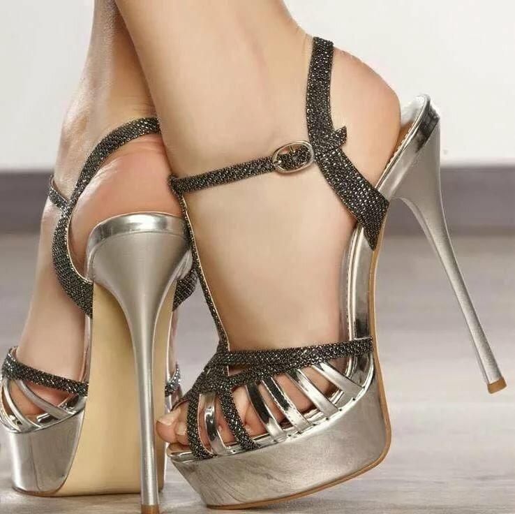 Sexy open toe high stilettos heel slip on mules slipper women shoes sandals