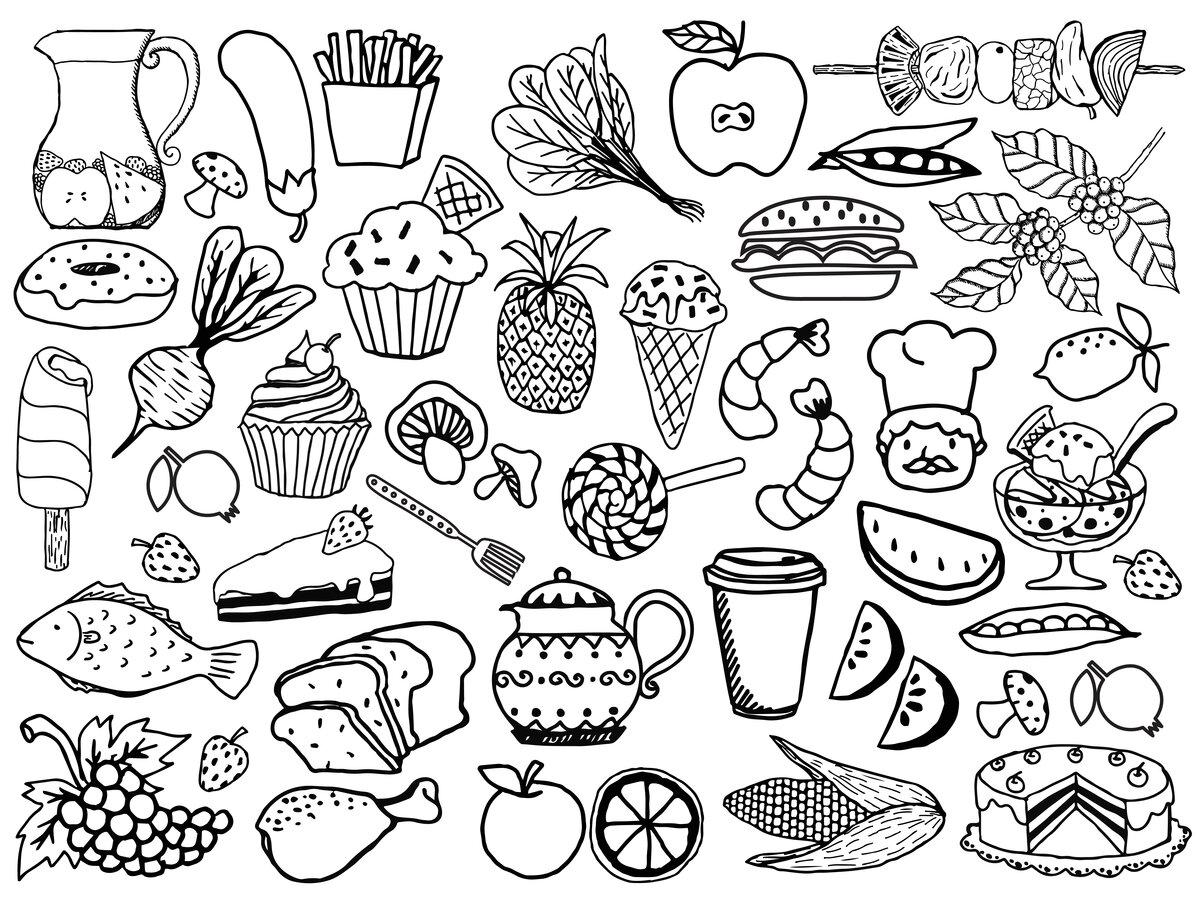 картинки еды для распечатки и вырезания черные требует особой подготовки