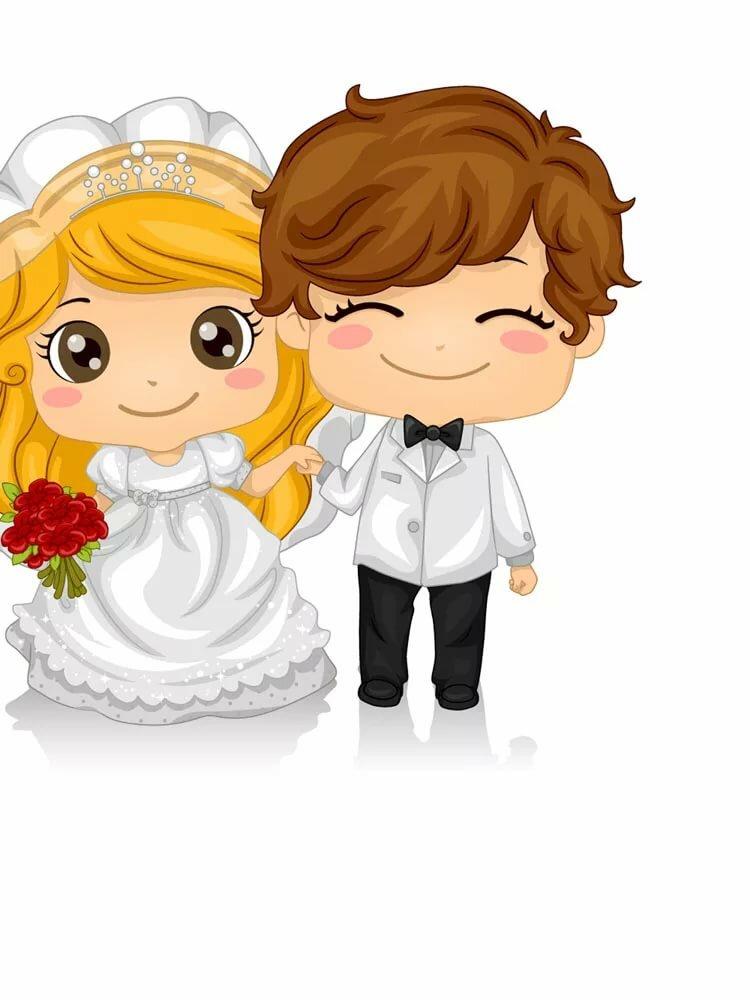 рисунок на открытку с днем свадьбы смотря