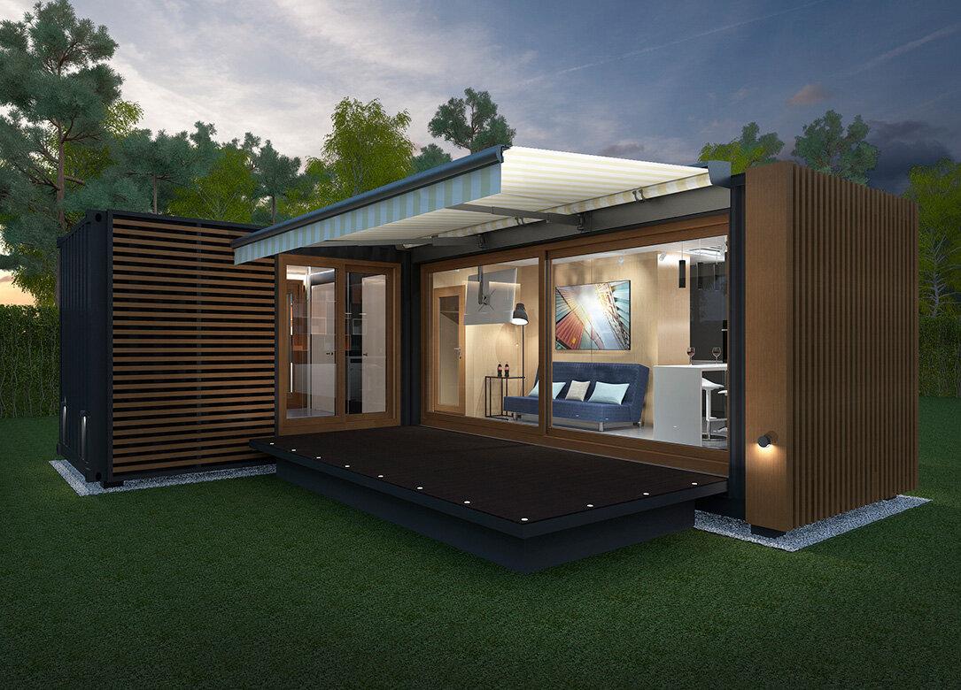 прекрасные фото модульных домов из бытовок статических, тротуарных, вибрационных