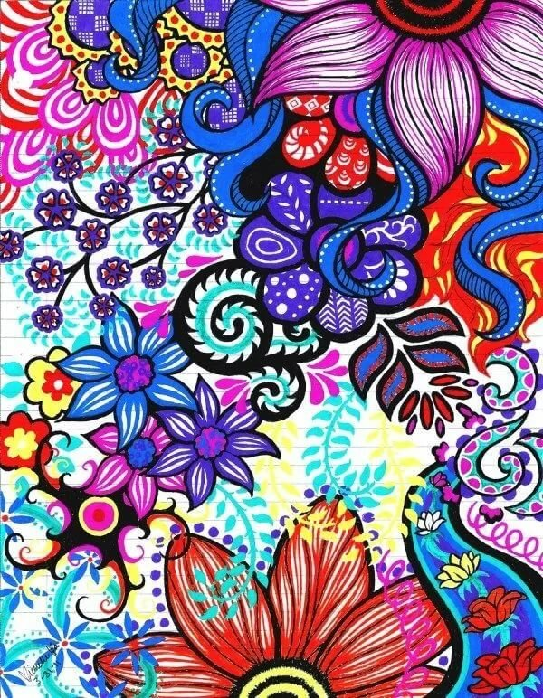 Картинки нарисованные яркими цветами