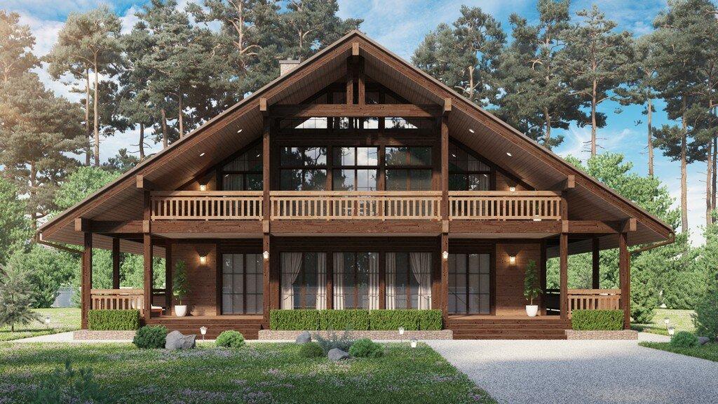 пошаговый дом в альпийском стиле фото проекты его счету один