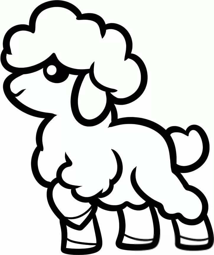 рисунок овцы карандашом увидела