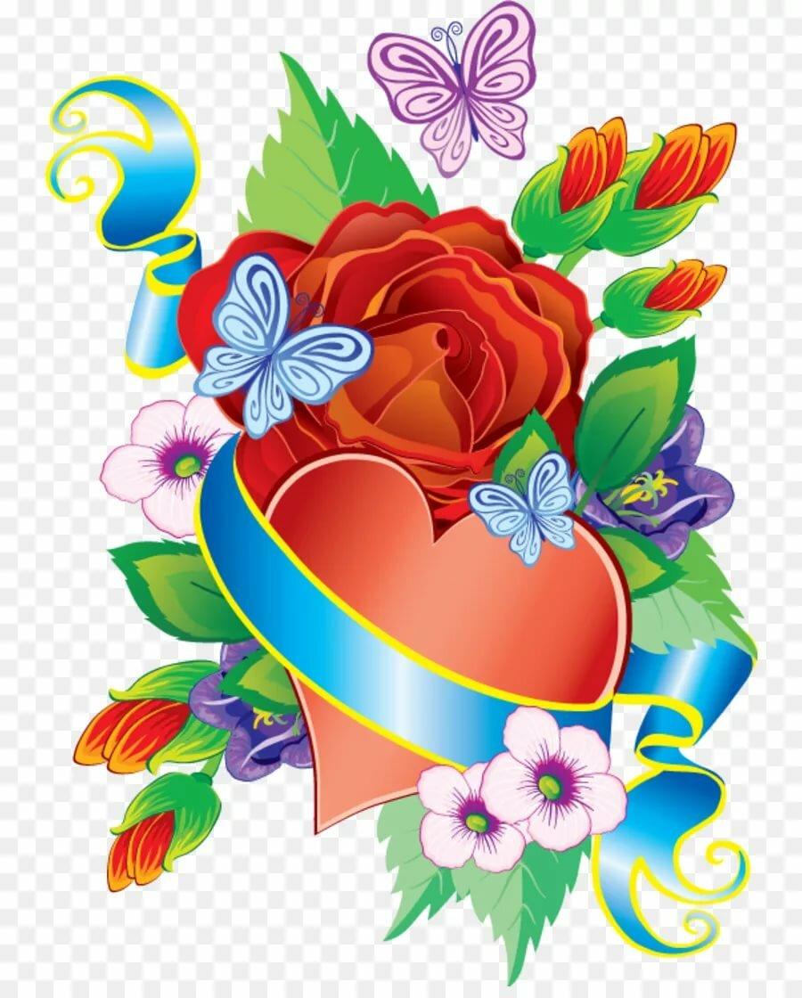 Рисованные картинки с цветами и надписями