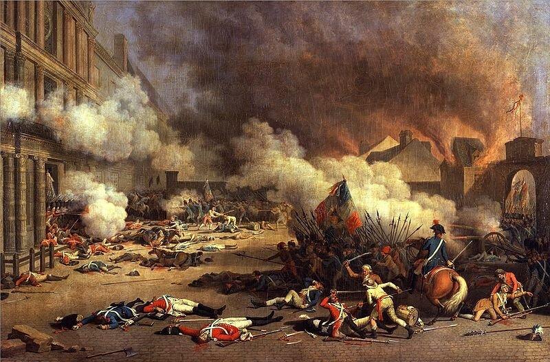 10 августа 1792 года вПариже вспыхнуло народное восстание