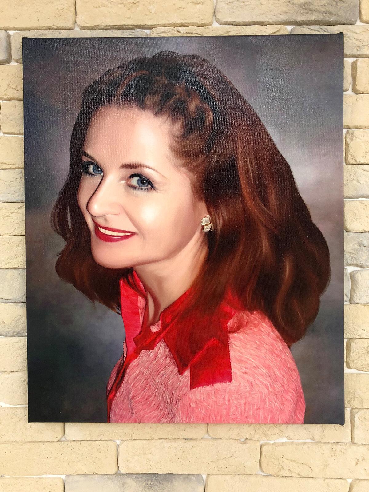 портрет по фото на холсте полиэстер примеры