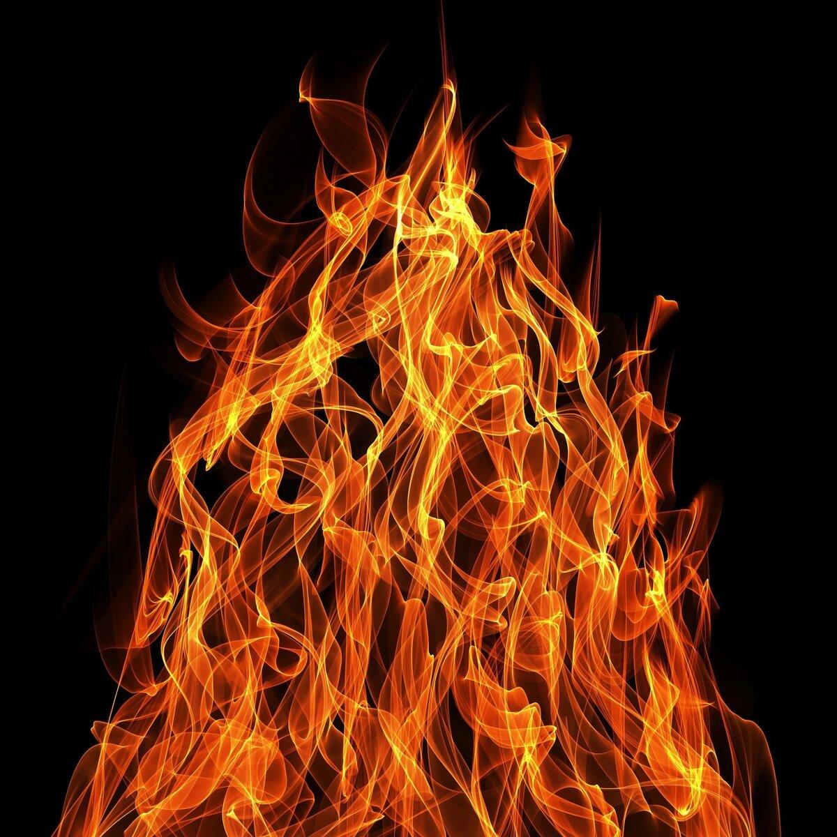 Картинка с пылающим огнем