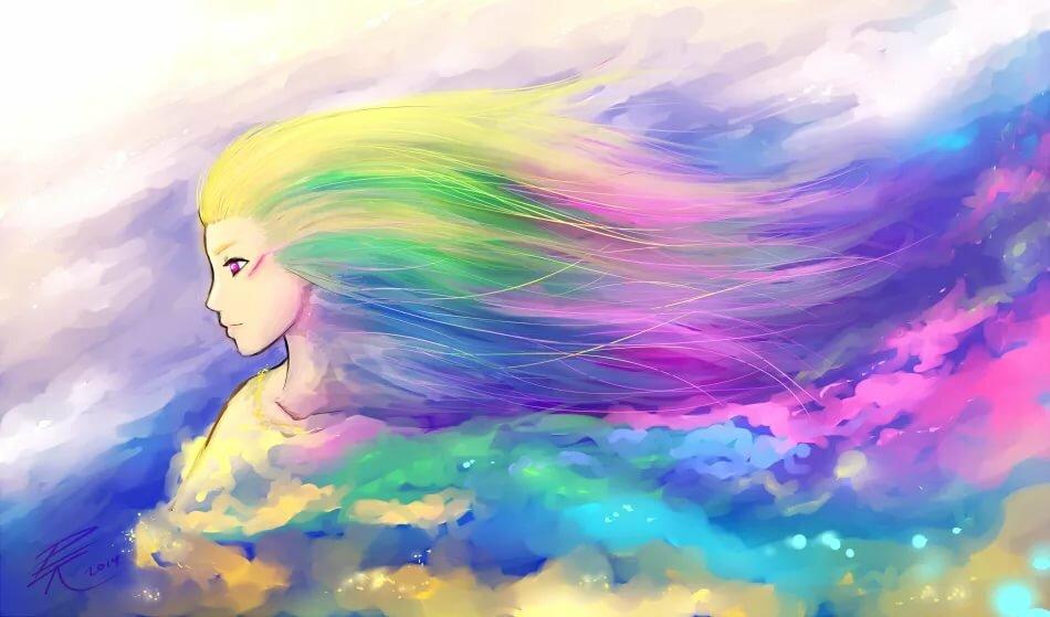 Картинки радуги красивые картинки нарисованные аниме