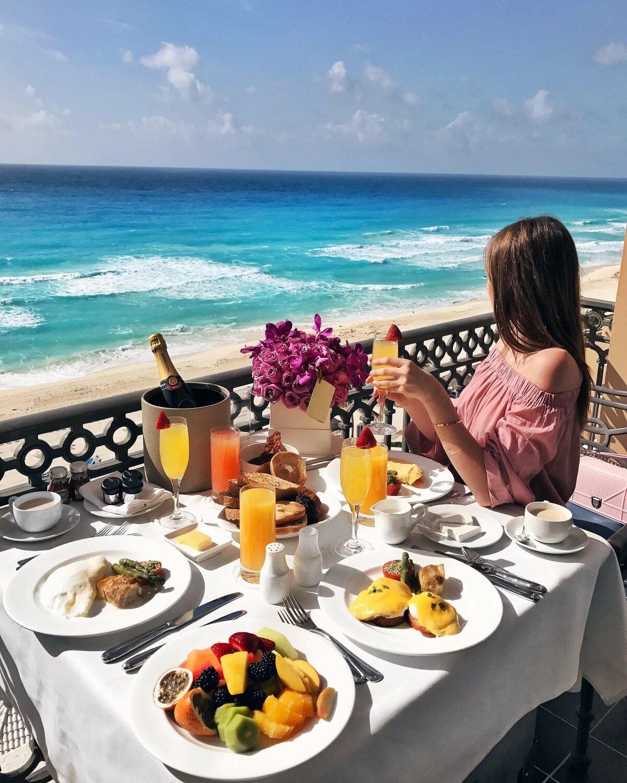 Красивый завтрак у моря картинки море