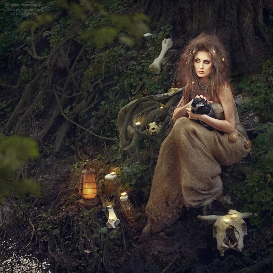 Картинка лесной ведьмы
