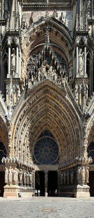 готический собор реймский собор