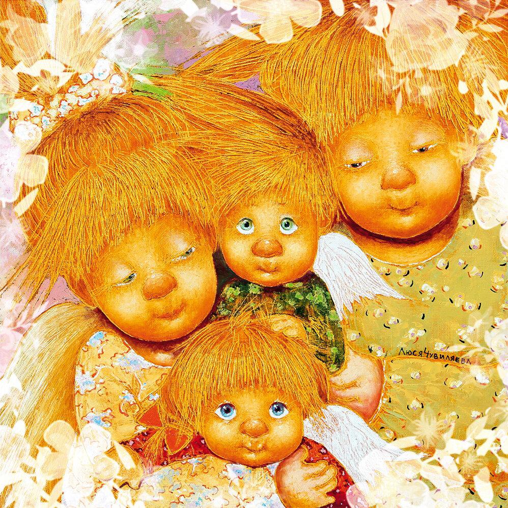 Ангелы картинки семья