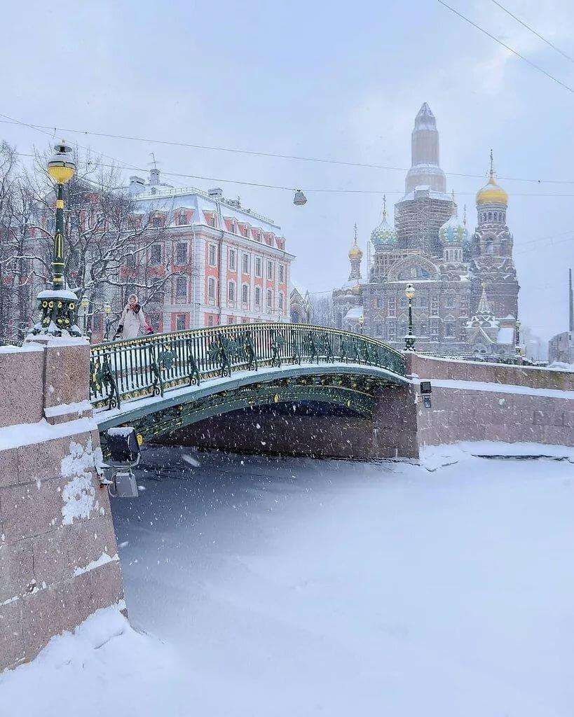 Фото питера сегодня зимой