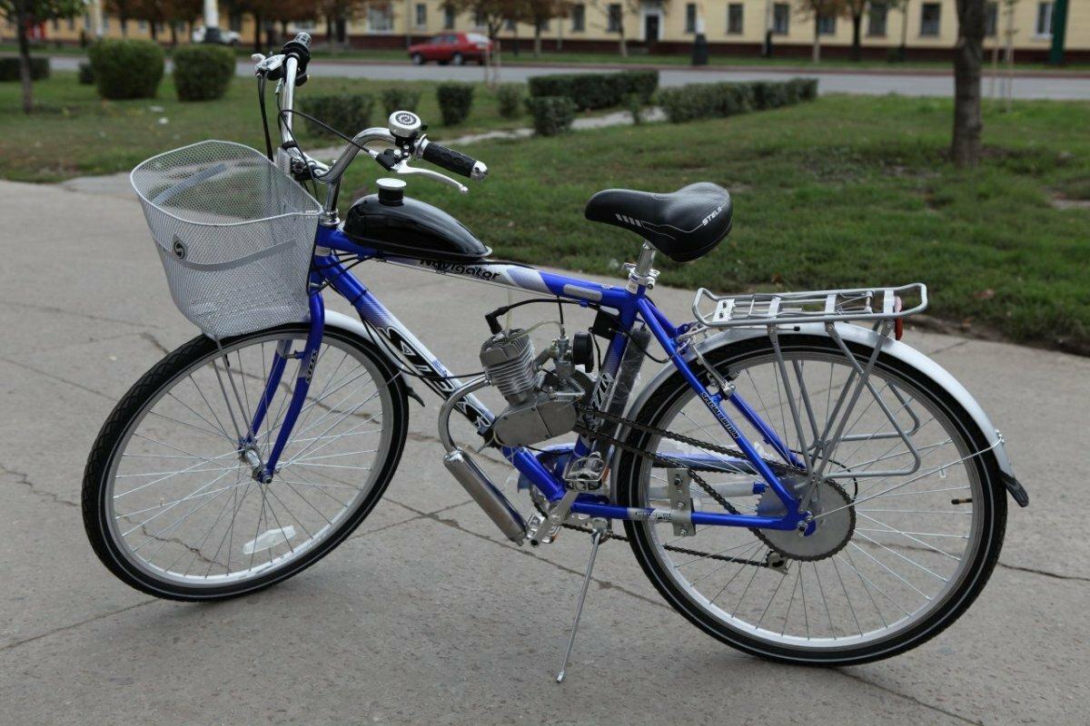 Велосипед с мотором Ф50