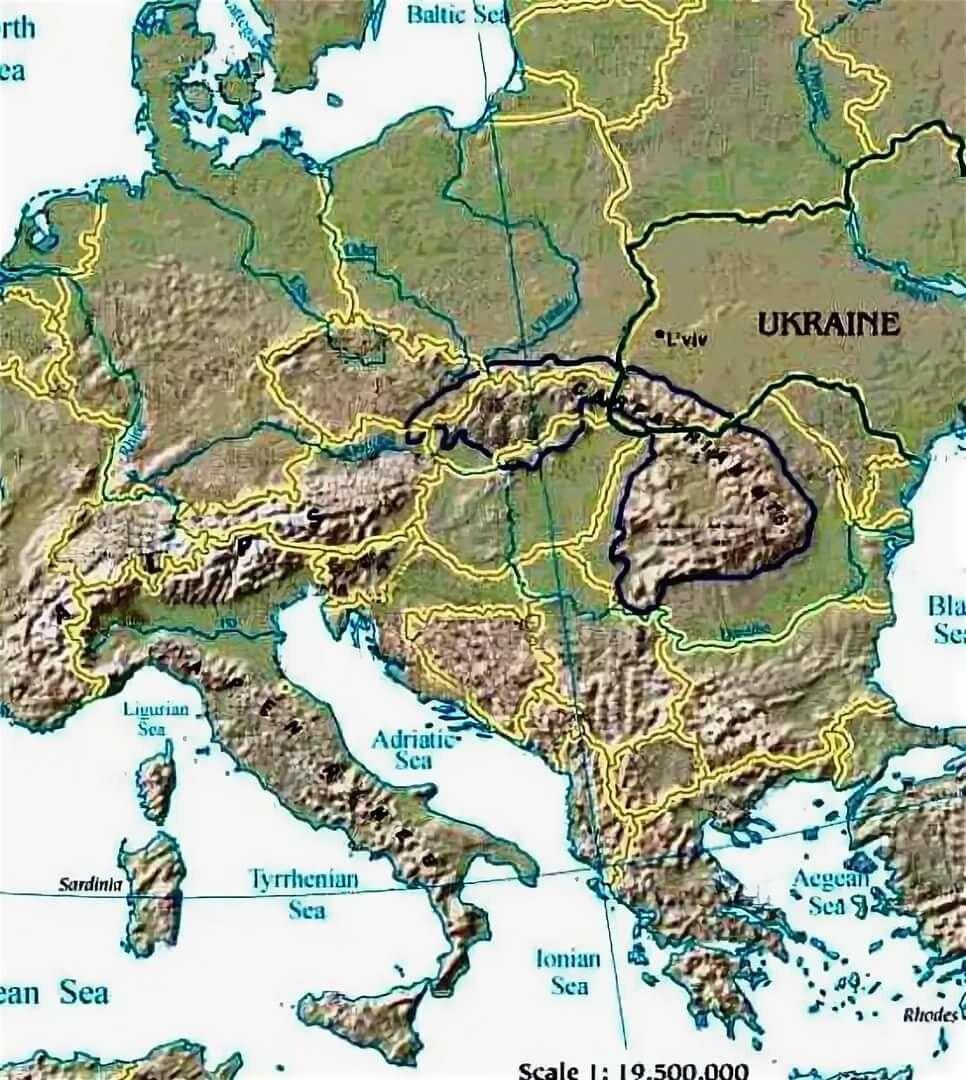 Где находится карпаты на карте россии