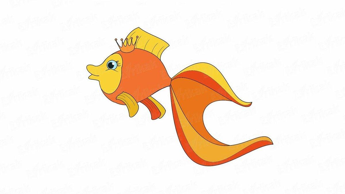 рисунки про золотую рыбку из сказки
