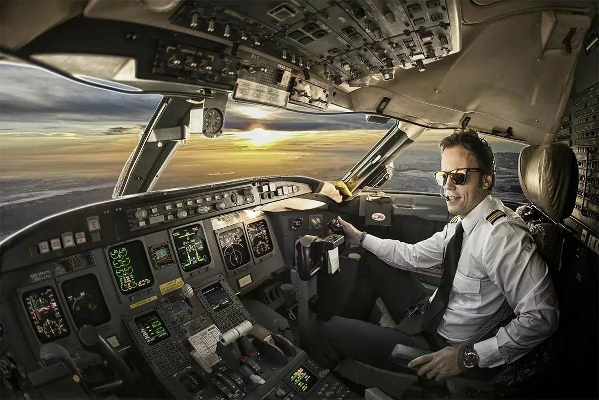 Картинки самолет с пилотом