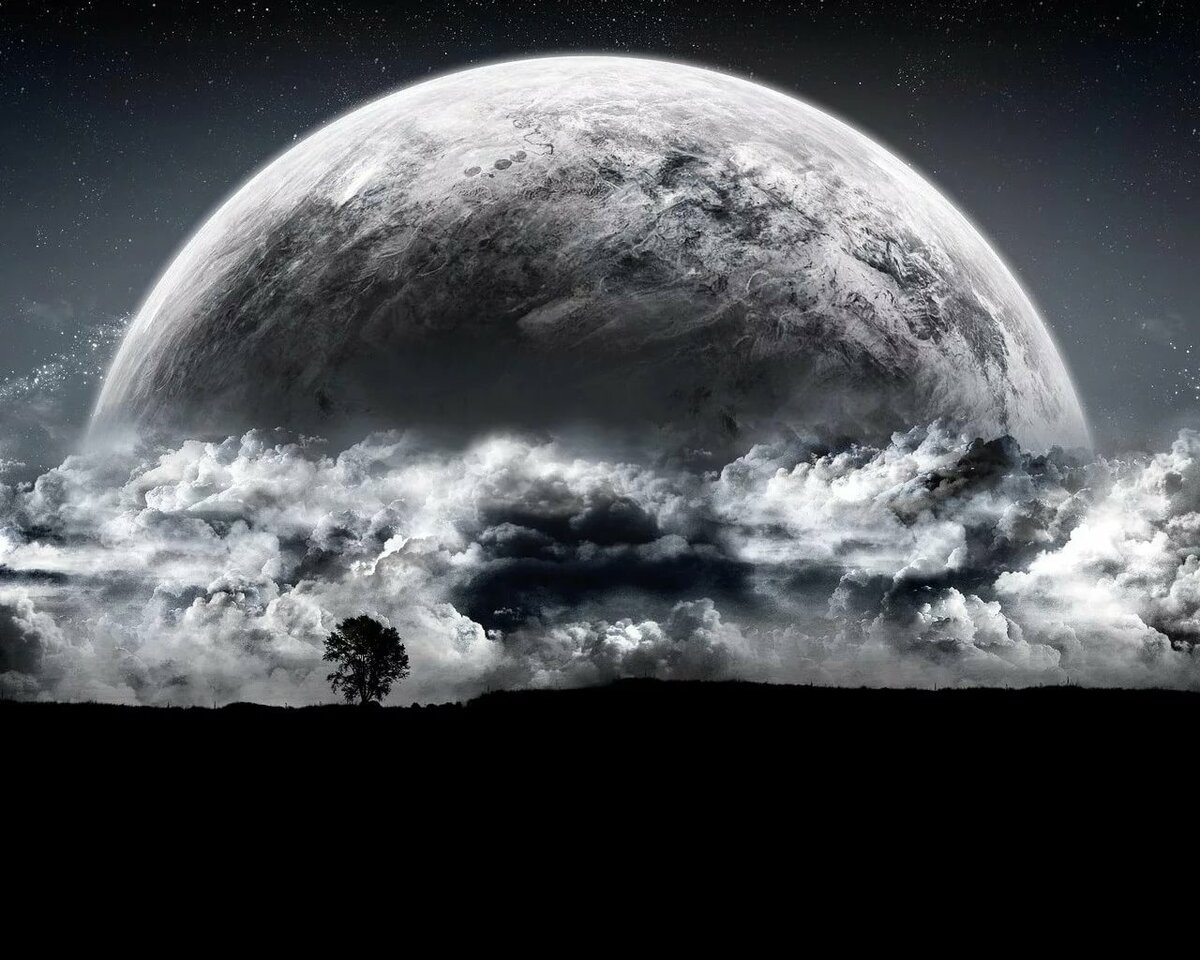 фото картинка серая планета любви